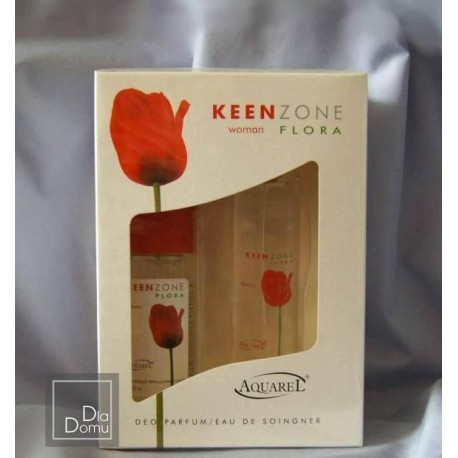 KEEN ZONE FLORA woman, ZESTAW 102 ml + 102 ml